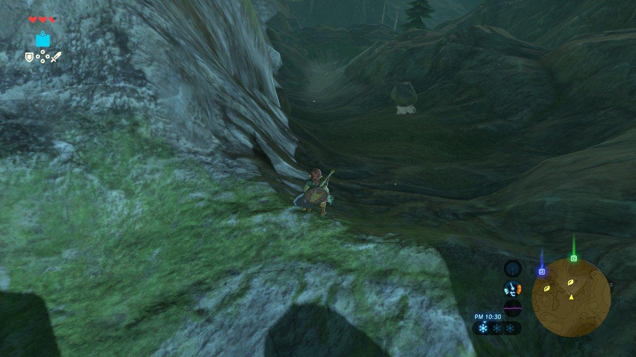 崖を転がる岩