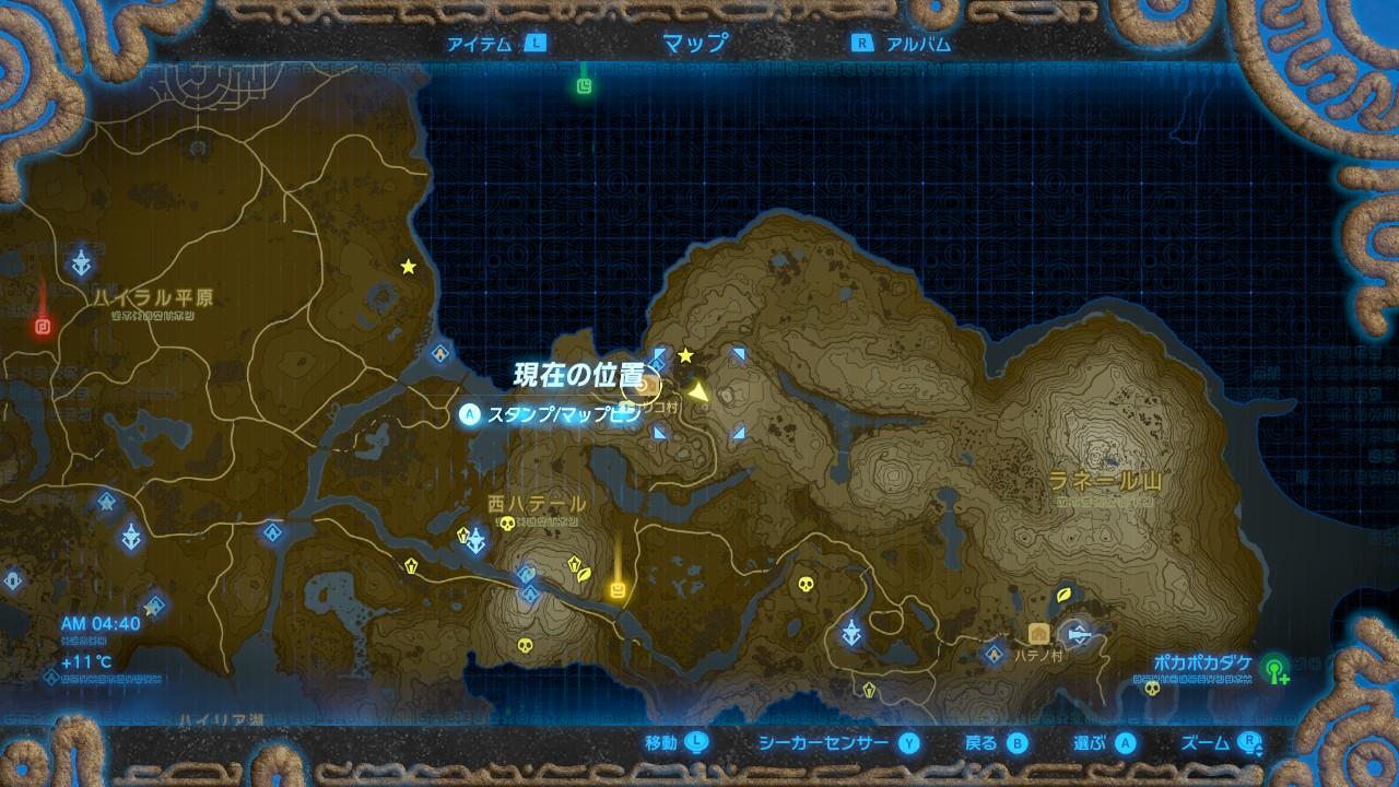 山の間MAP