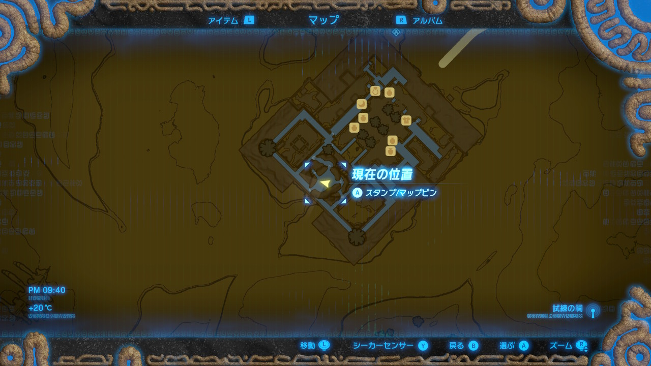 雷鳴の兜map