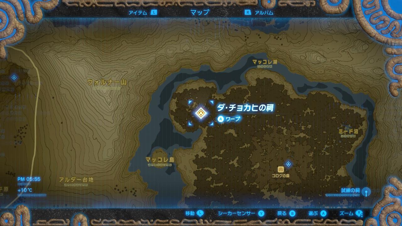 ダ・チョカヒの祠map